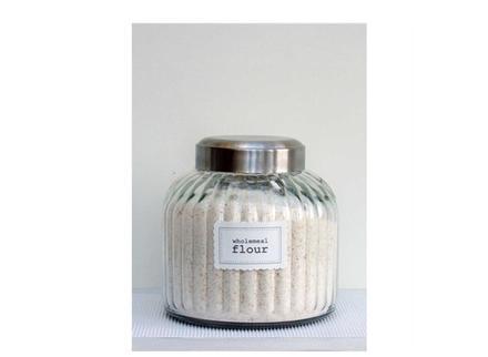 Pantry Storage Jars Labels Cake Kitchen