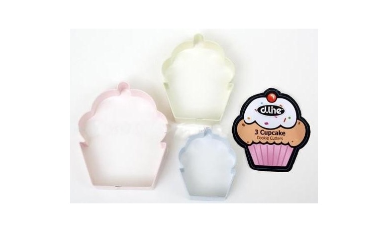 Cupcake Cookie Cutters - Set of 3