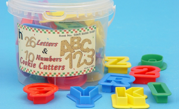 Alphabet&Number Cookie Cutter Set