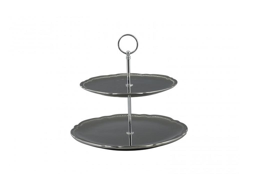 Two Tier Cake Stand - Silver
