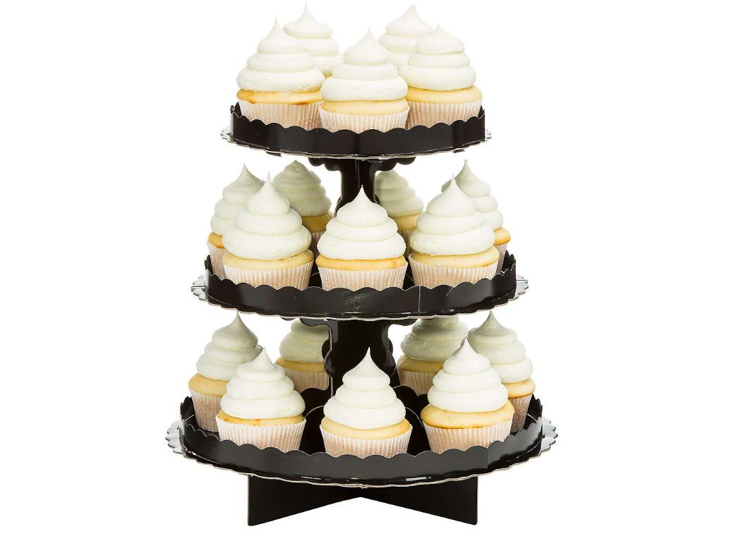 3 Tier Cupcake Stand - Black