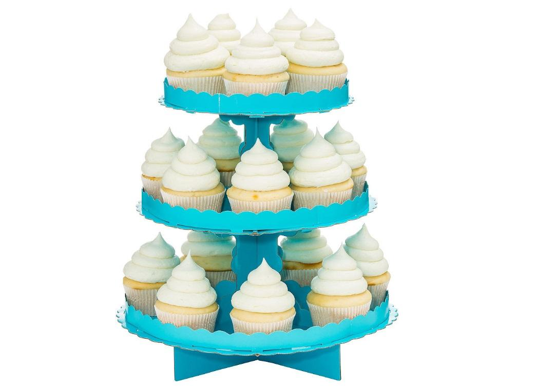 3 Tier Cupcake Stand - Blue