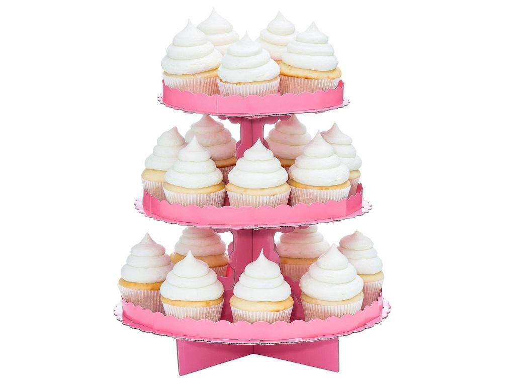 3 Tier Cupcake Stand - Pink
