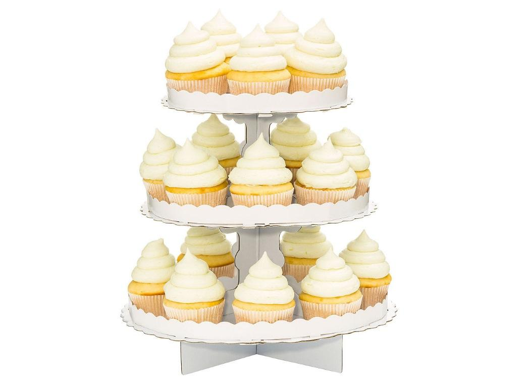3 Tier Cupcake Stand - White