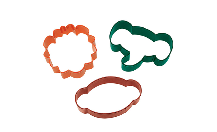 Wilton 3pc Jungle Pals Cookie Cutter Set