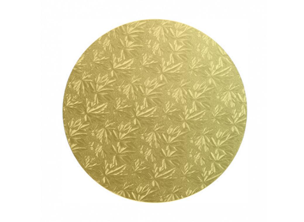 Gold Masonite Round Cake Board 10""