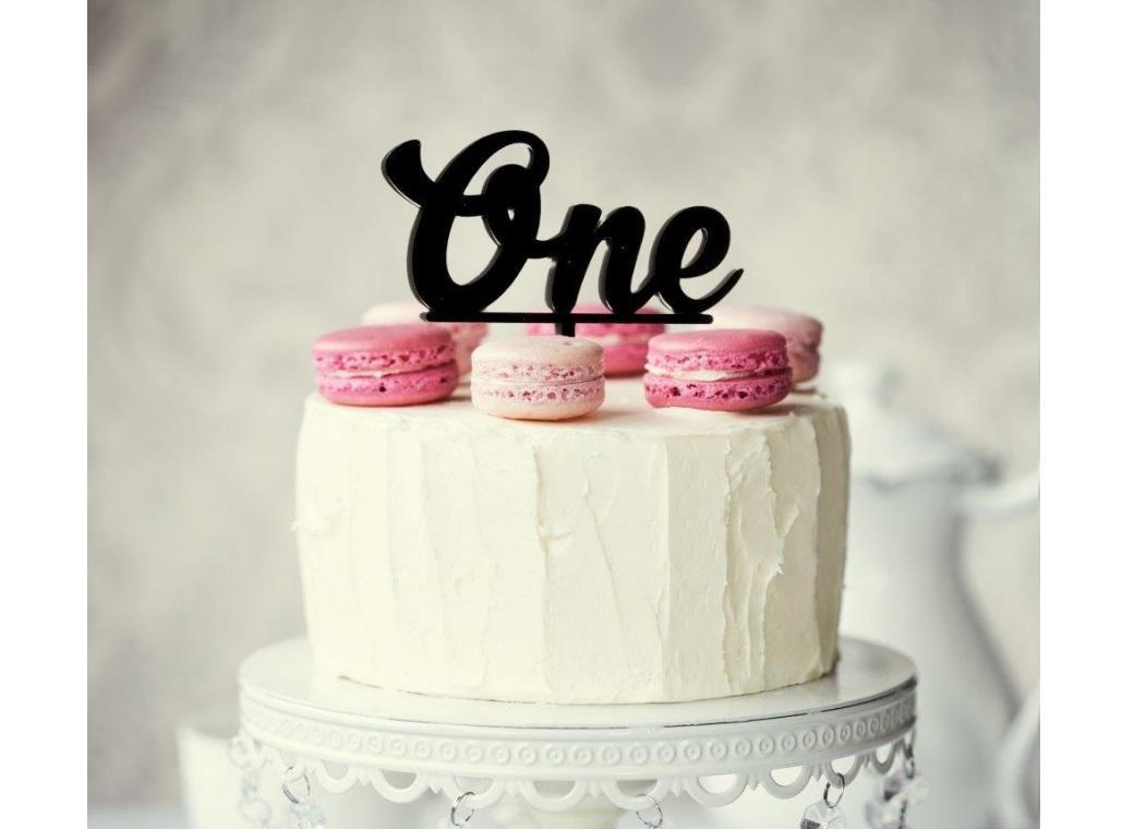 Sugar Crafty Acrylic Cake Topper - ONE