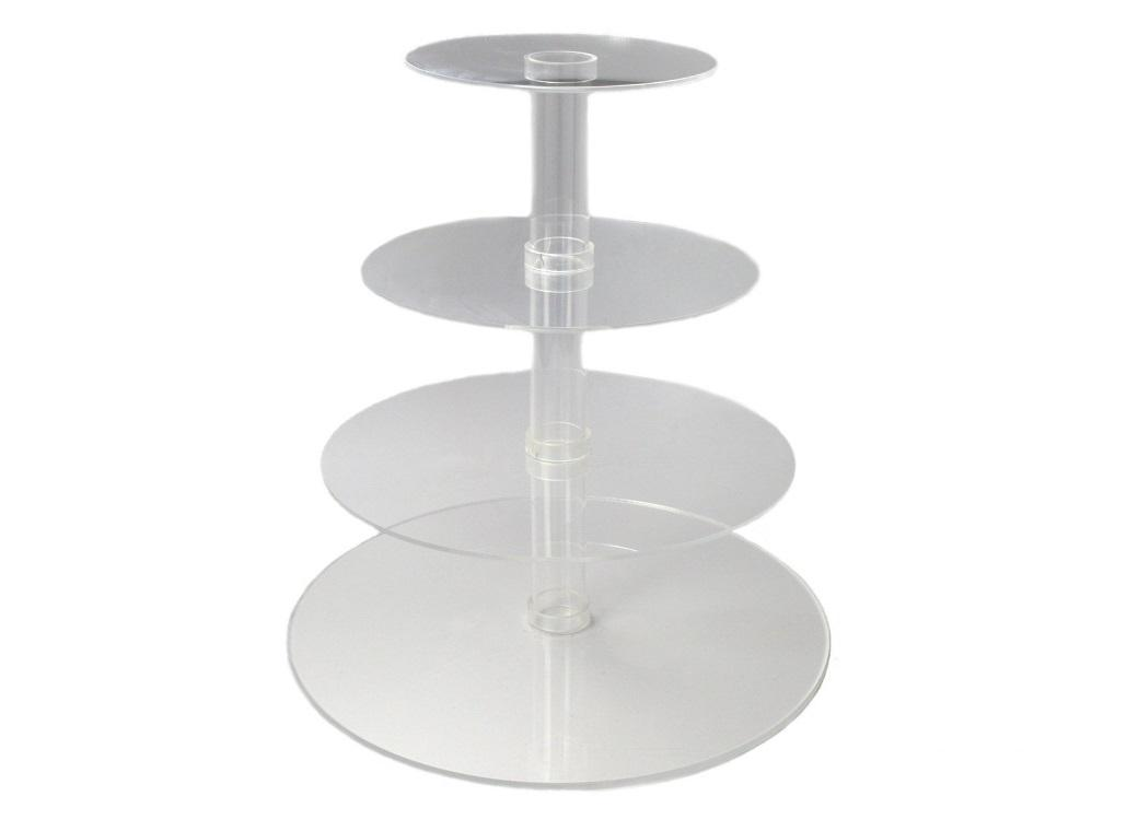 Acrylic Cupcake Stand - 4 Tier