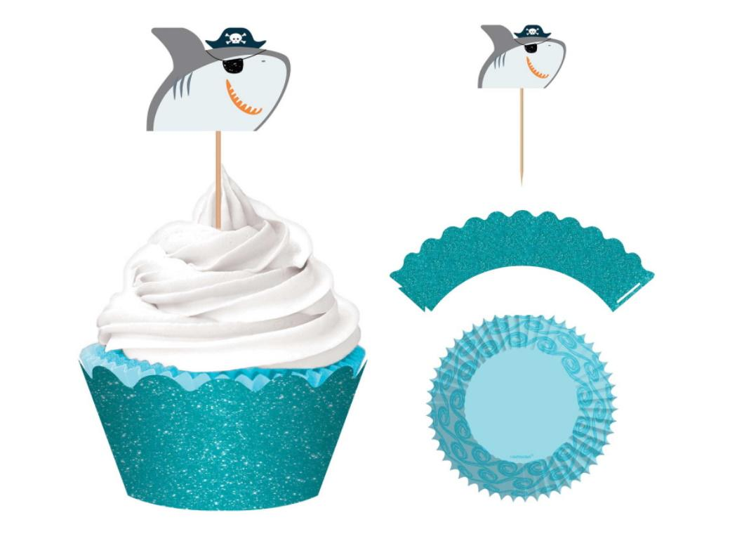 Ahoy Pirate Shark Cupcake Decorating Kit