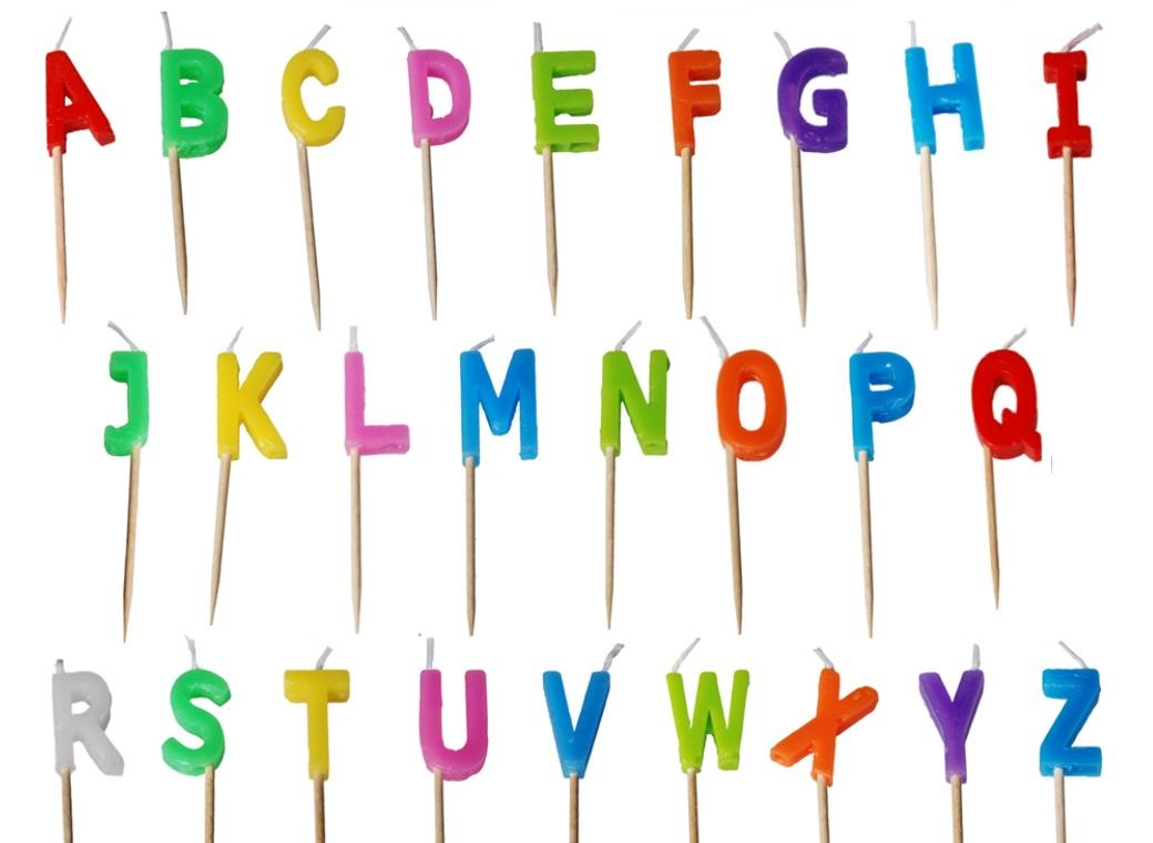 Letter Candles - A to Z