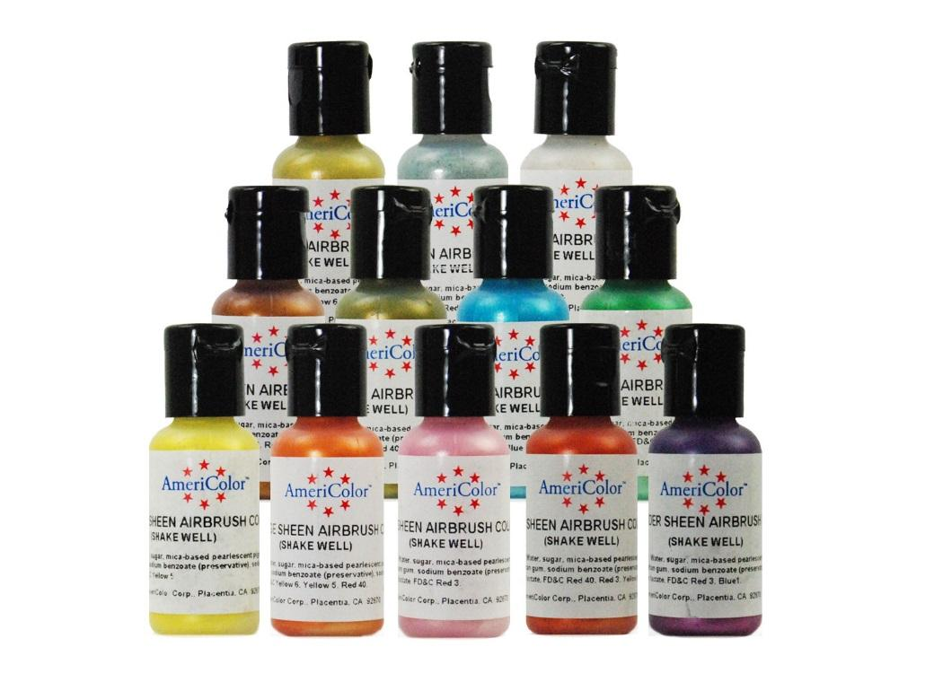AmeriMist Airbrush Colours - Sheen 12pk
