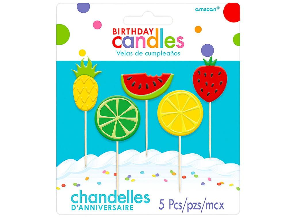 Fruit Candles 5pk