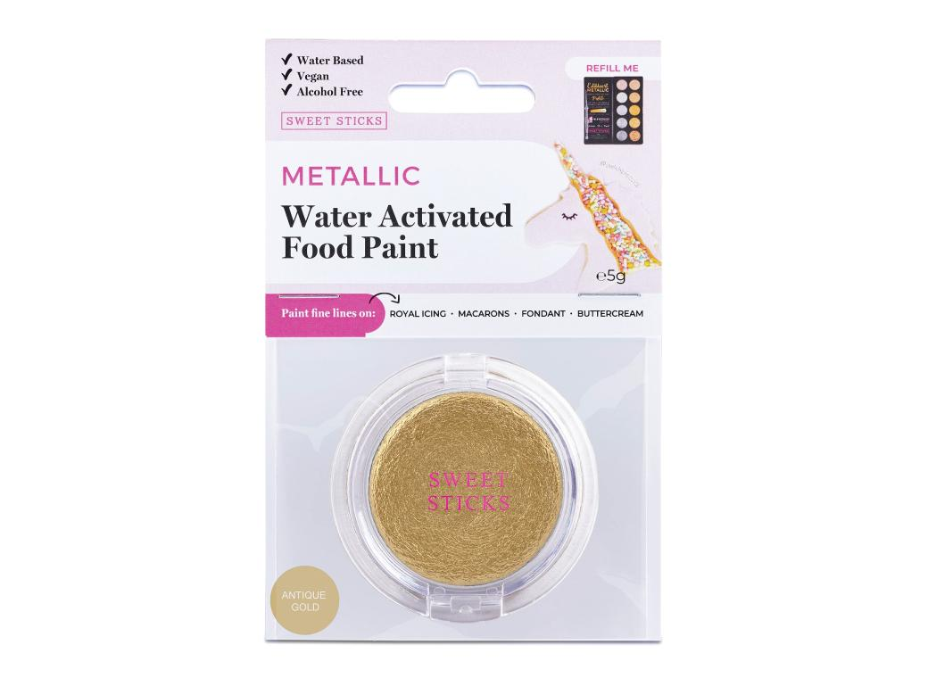 Water Activated Food Paint - Antique Gold