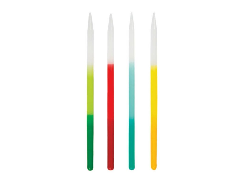 Bright Ombre Dipped Candles 12pk
