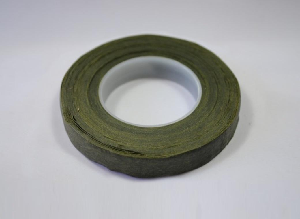 Avocado Green Floral Tape 12mm