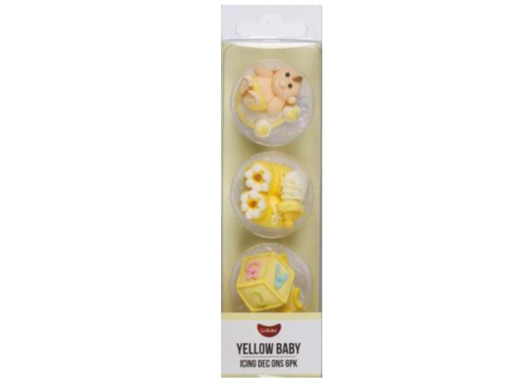 Dec Ons Baby Yellow 6pk