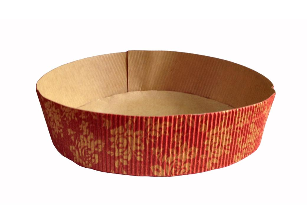 Paper Bakeware Red & Gold - Round Pan