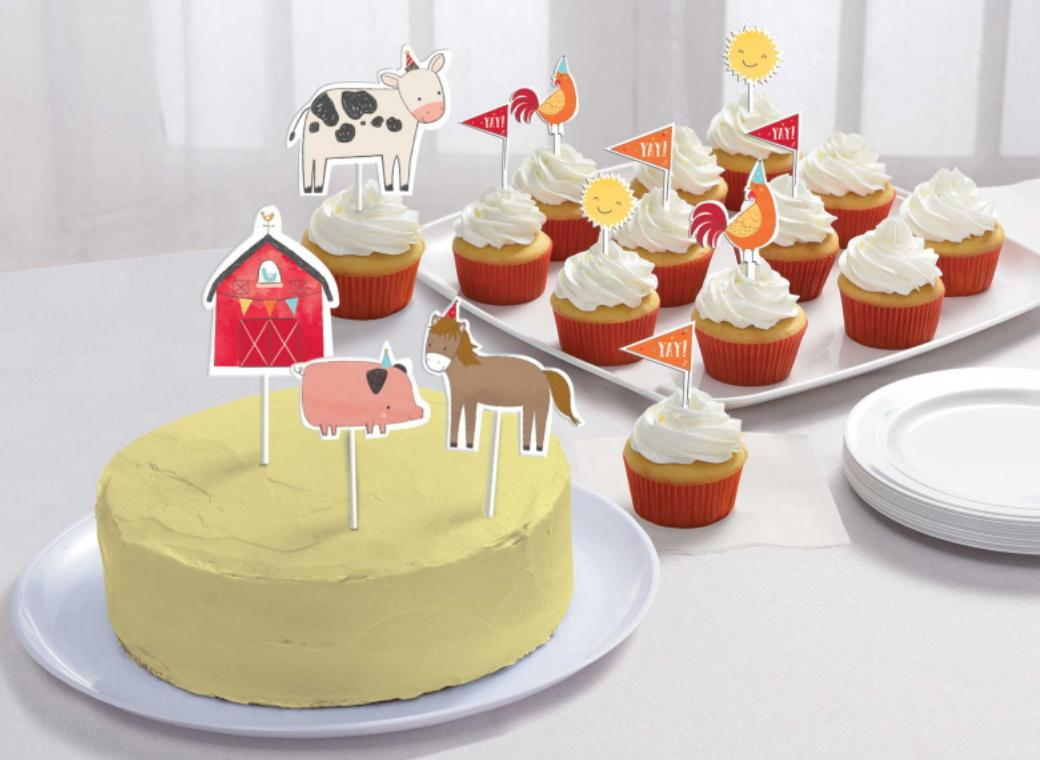 Barnyard Birthday Cake Toppers 12pk