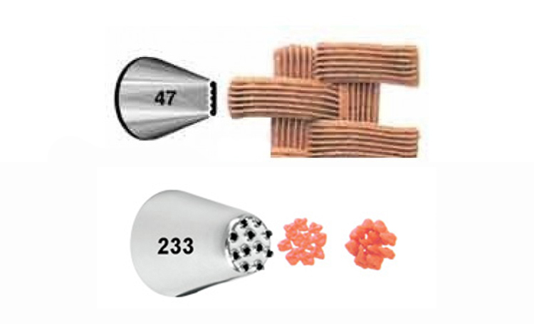 Wilton Basket #47 & Multi Opening #233 Tip Set