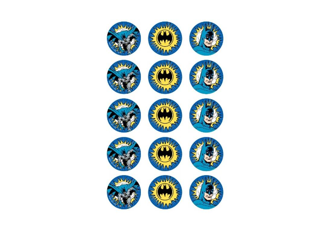 Edible Icing Cupcake Images - Batman