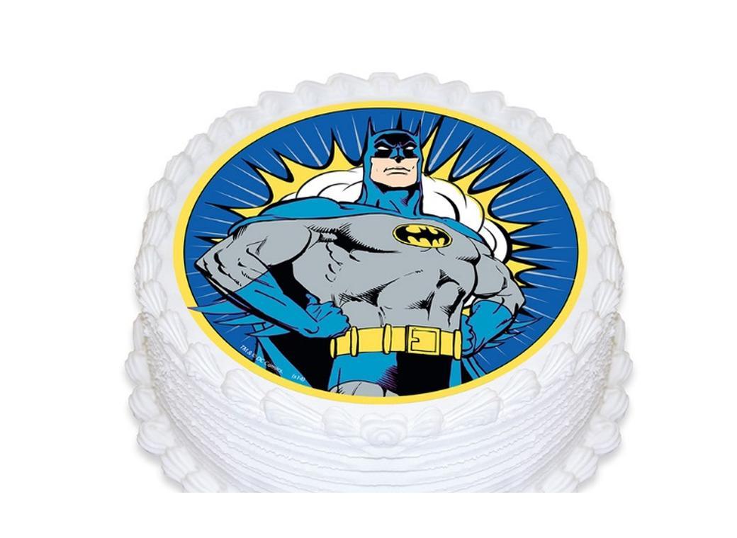 Edible Icing Image - Batman Round