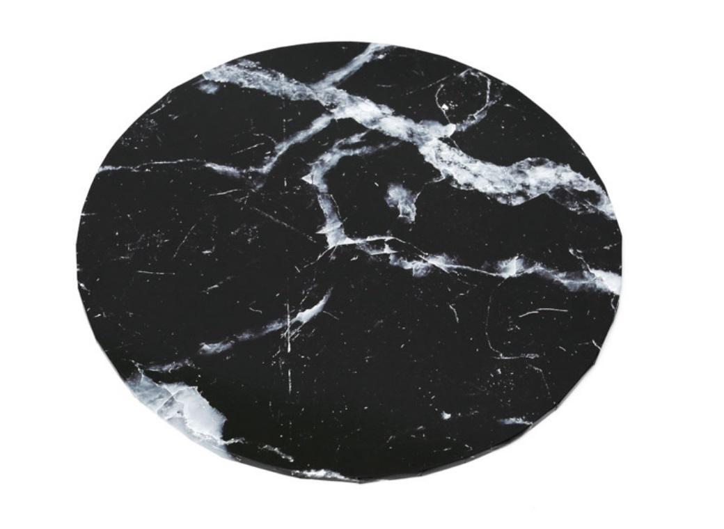 "Black Marble Masonite Cake Board Round 12"""