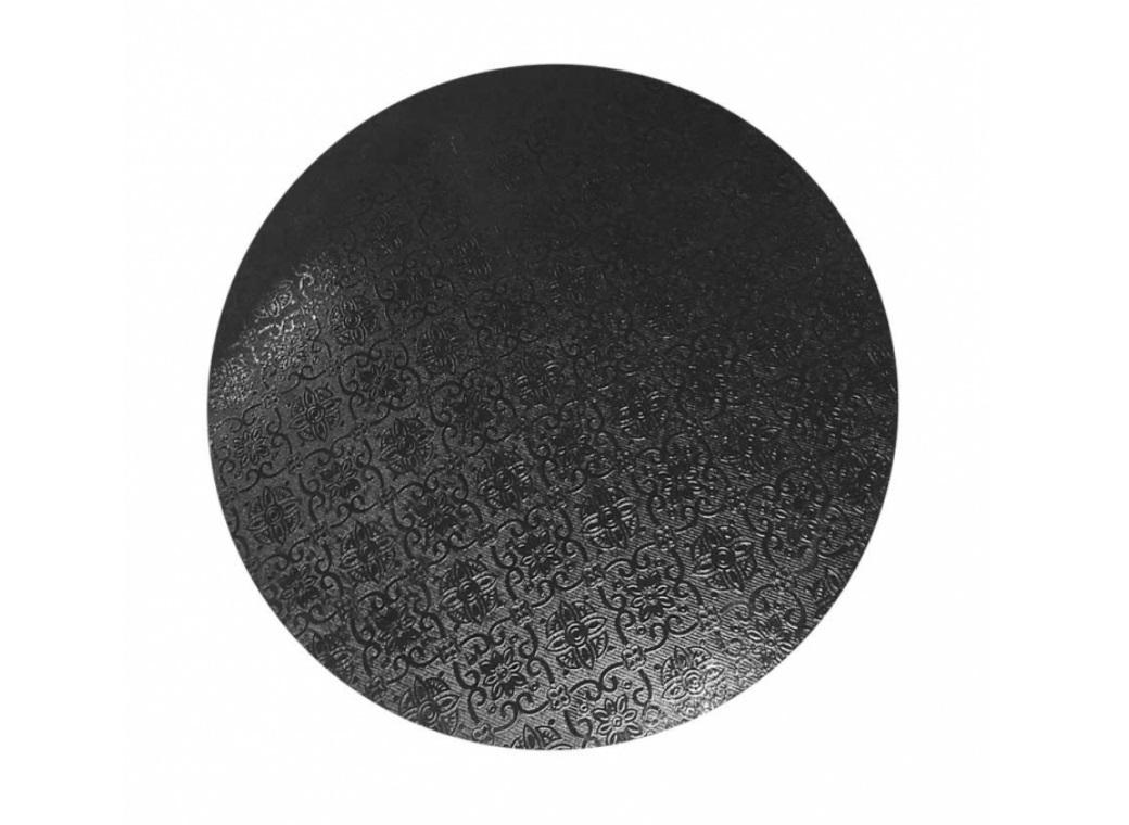 Black Masonite Cake Board Round - 9""