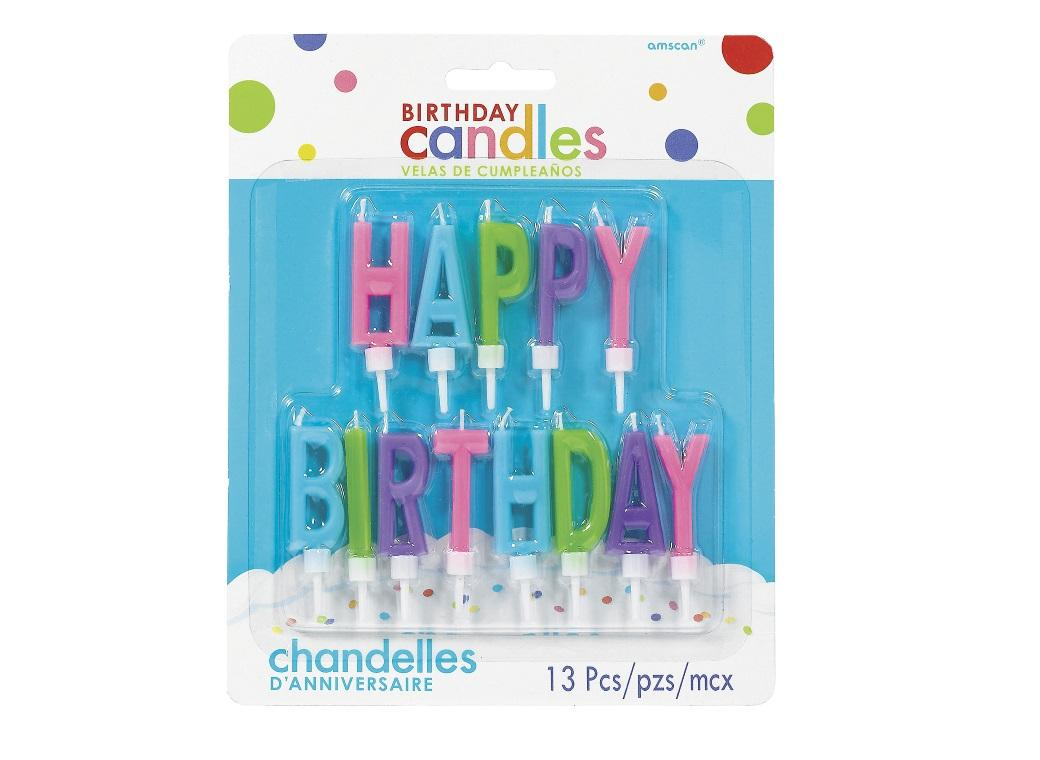 Bright Happy Birthday Candle Set