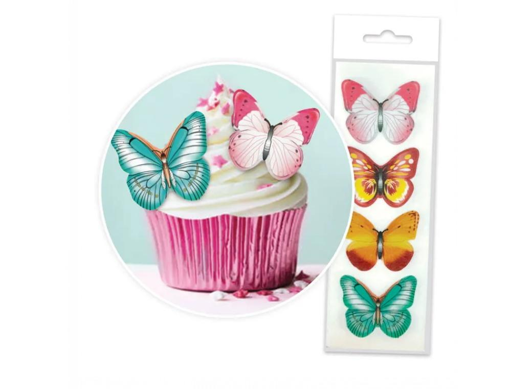 Edible Wafer Cupcake Toppers - Butterflies