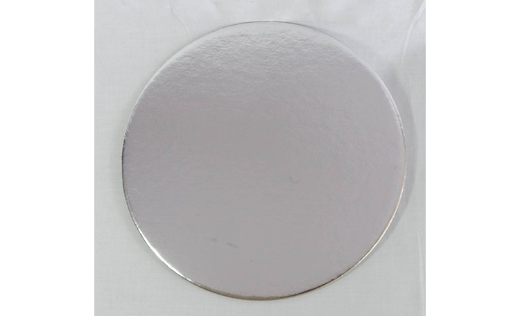 "Cake Card 2mm - 5"" Round Silver"