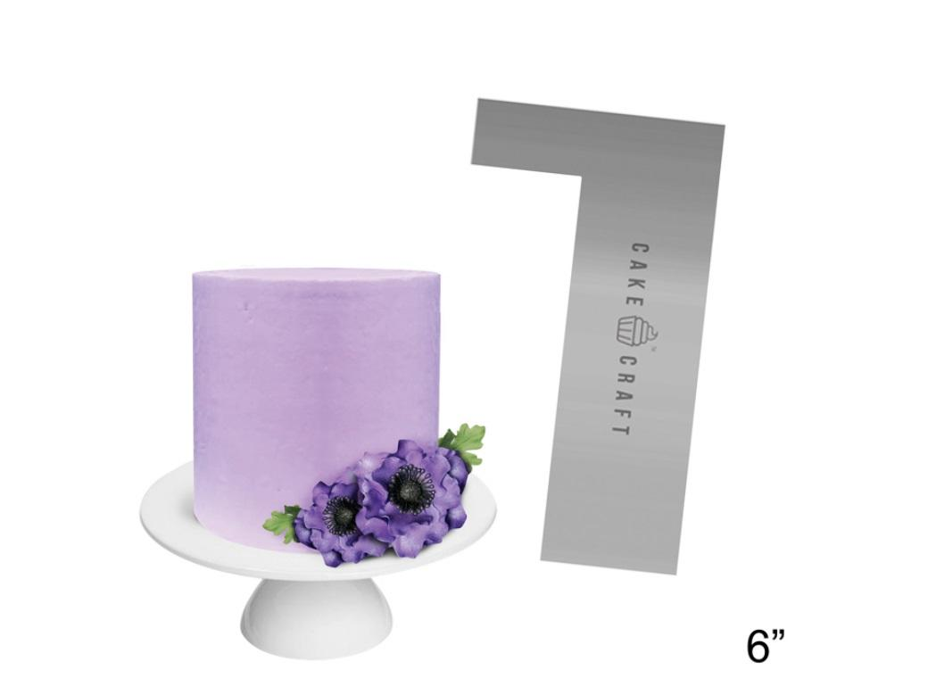 Cake Craft Steel Scraper Straight Edge 6in