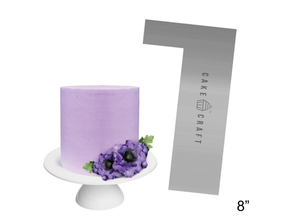 Cake Craft Steel Scraper Straight Edge 8in