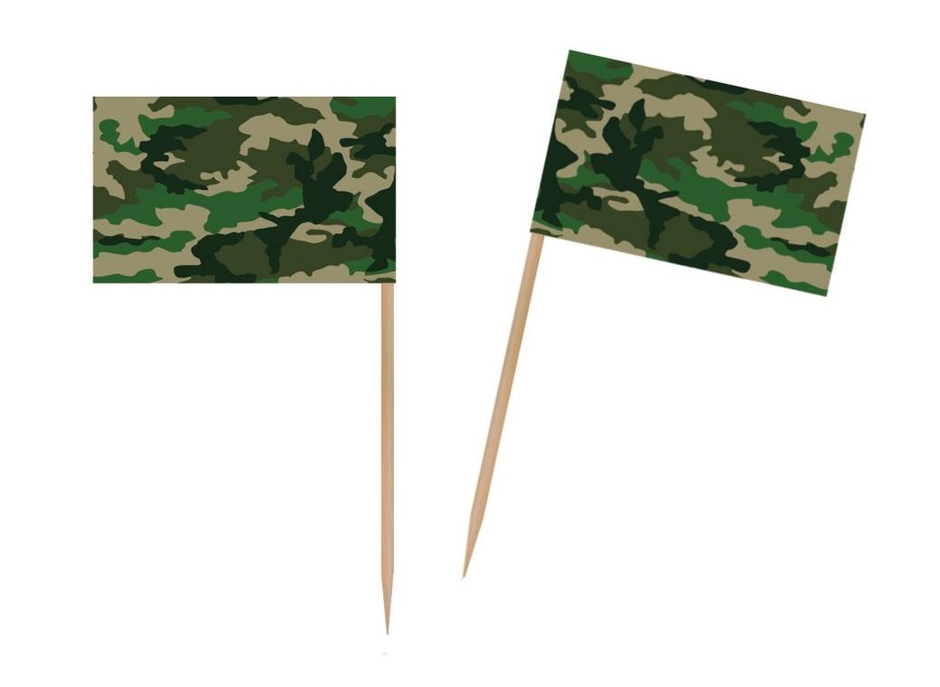 Camo Flag Picks 50pk