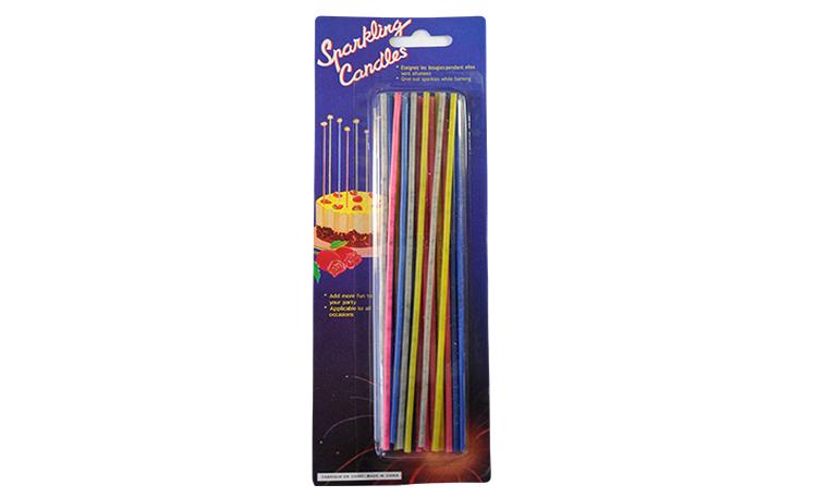 Sparkling Multi Coloured Candles - 18pk