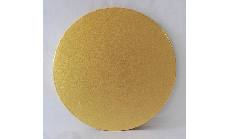 "Cake Board 14mm - 12"" Round Gold"