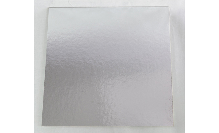 "Cake Card 2mm - 10"" Square Gold / Silver"