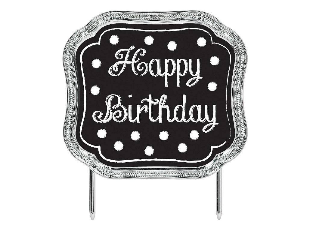 Chalkboard Happy Birthday Cake Topper