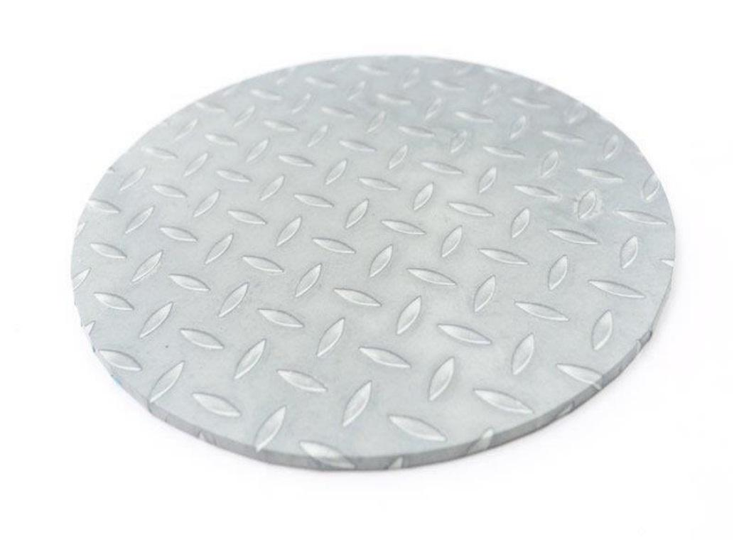 Checker Plate Masonite Cake Board Round 10""