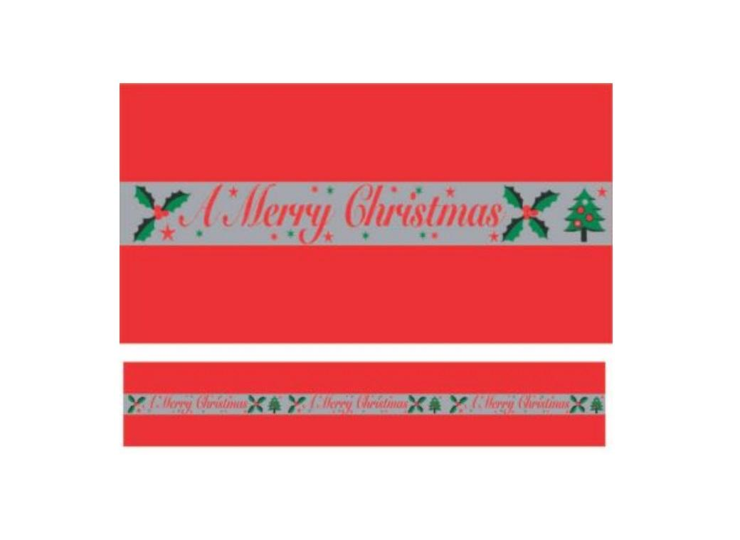 Christmas Cake Frill - Merry Christmas Red