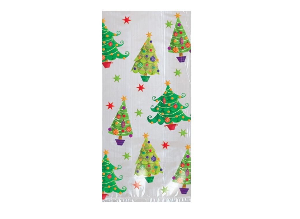 Christmas Tree Cello Bags 20pk
