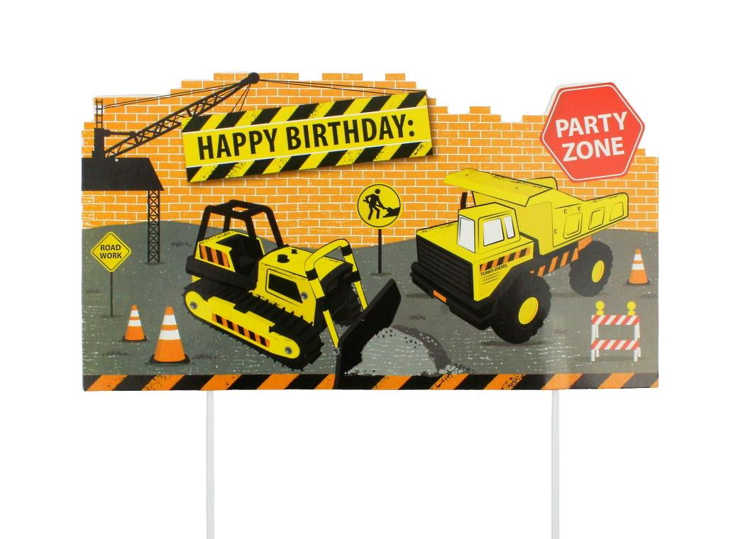 Construction Scene Cake Topper