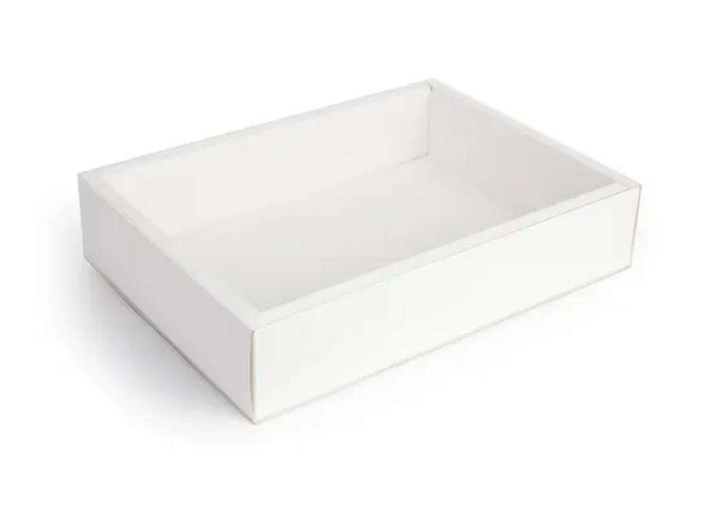 Cookie Box Rectangle with Clear Lid 25.5cm x 17.5cm