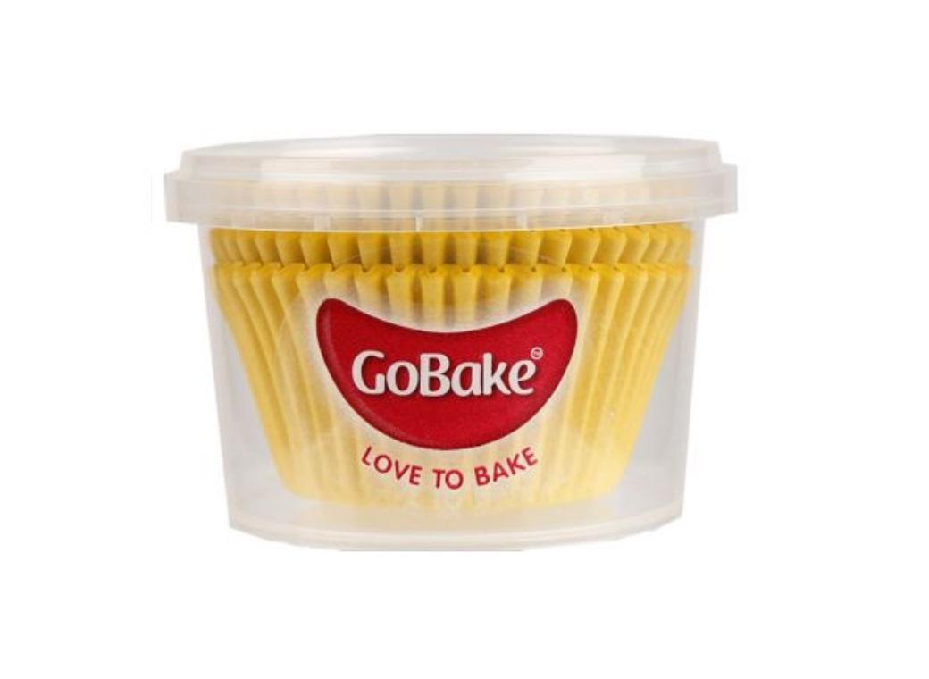 Cupcake Cases 72pk Yellow