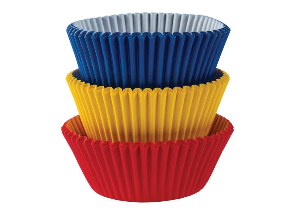 Cupcake Cases 75pk Primary Colours