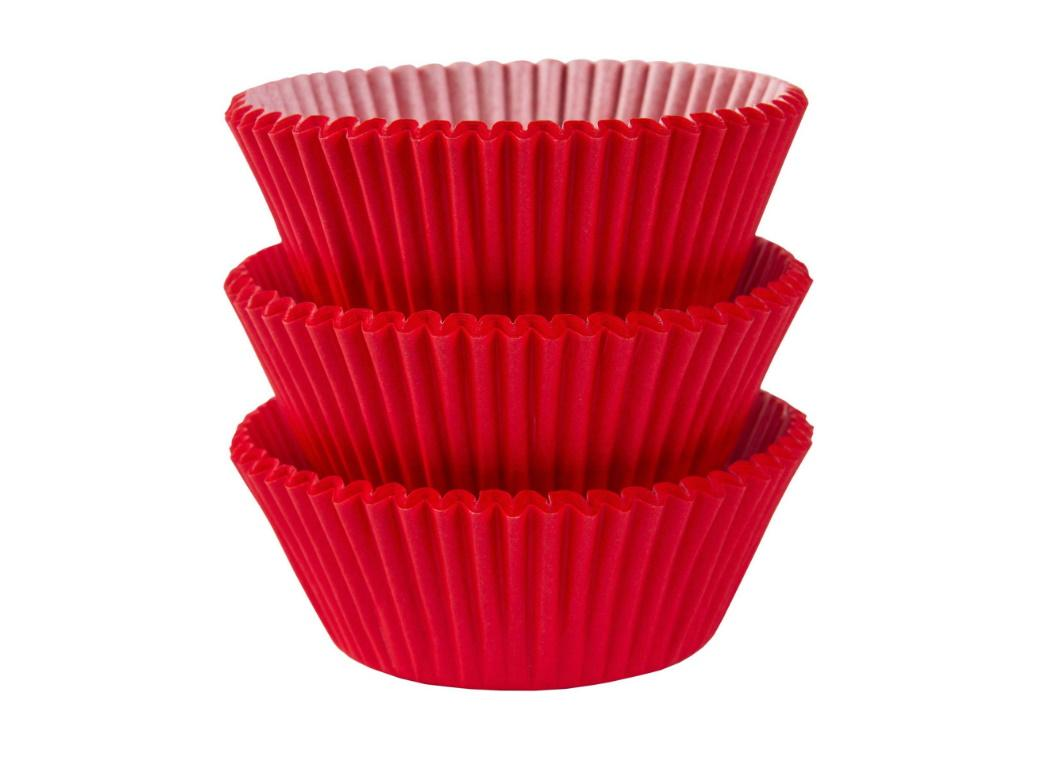Cupcake Cases 75pk Red