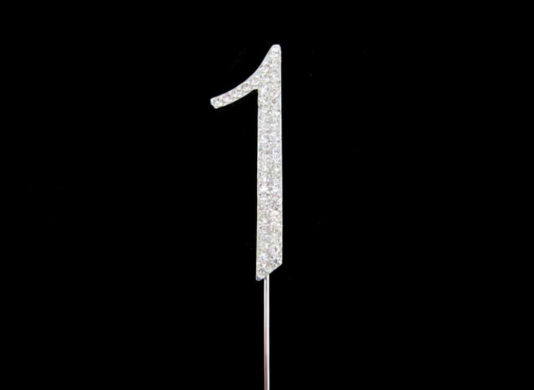 Diamante Cake Topper - Number 1