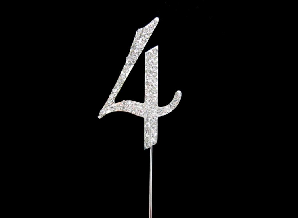 Diamante Cake Topper - Number 4