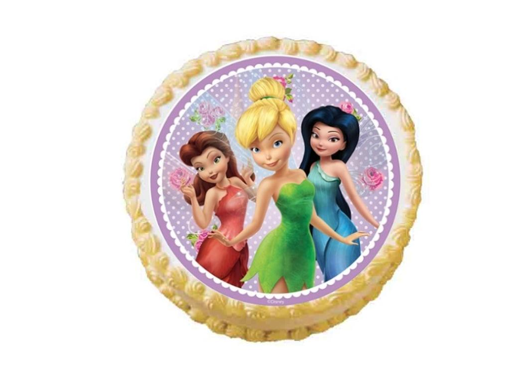 Edible Icing Image - Disney Fairies Round