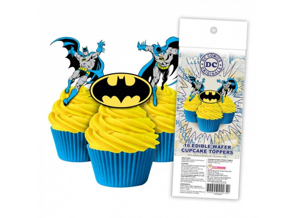 Edible Wafer Cupcake Toppers - Batman