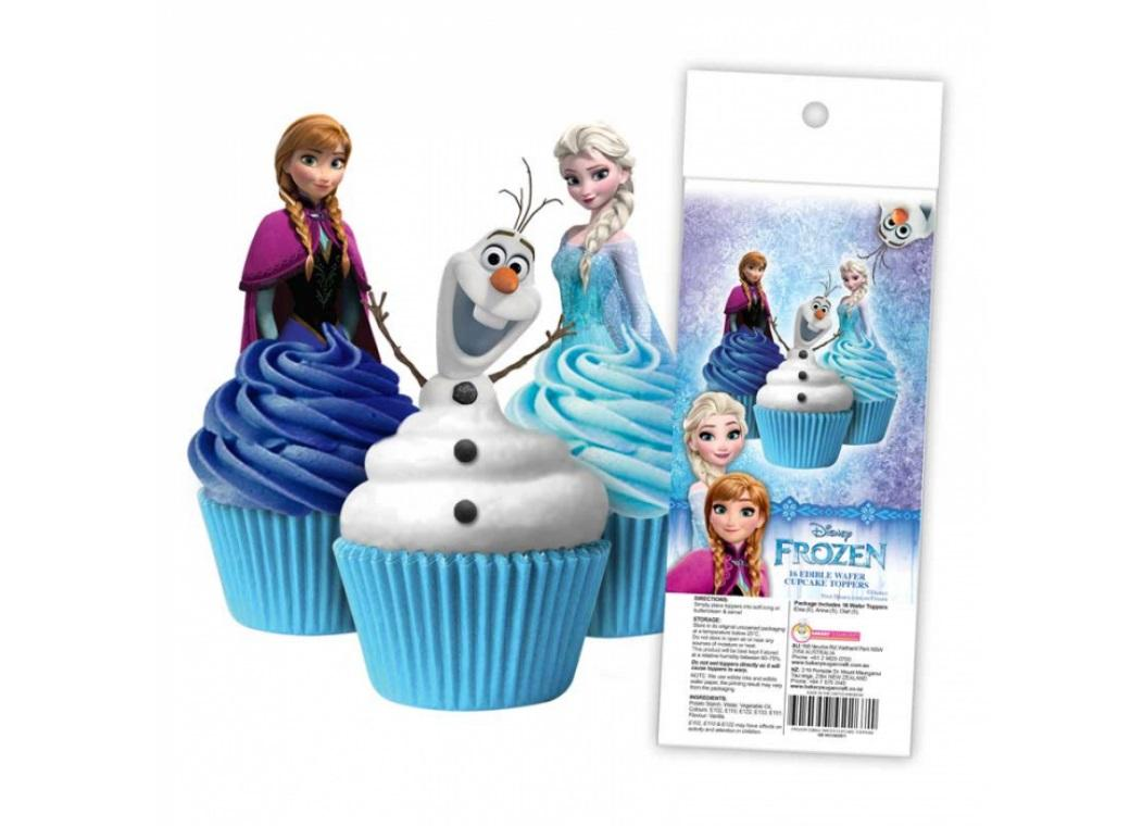 Edible Wafer Cupcake Toppers - Frozen